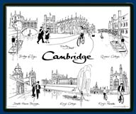 Mouse mat of Cambridge - King's, Queens', St John's, Gonville & Caius and Trinity College