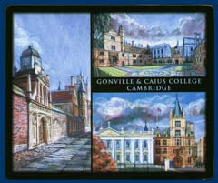 Mouse mat of Gonville & Caius College, Cambridge