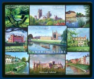 Mouse mat of Cambridgeshire