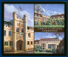 Mouse mat of Christ's College, Cambridge