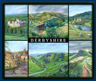 Mouse mat of the Peak District in Derbyshire