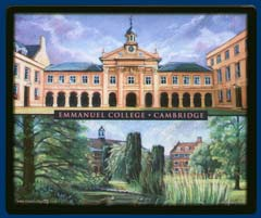 Mouse mat of Emmanuel College, Cambridge