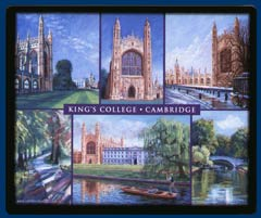 Mouse mat of King's College, Cambridge
