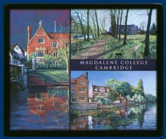 Mouse mat of Magdalene College, Cambridge