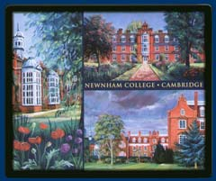 Mouse mat of Newnham College, Cambridge