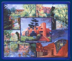 Mouse mat of Robinson College, Cambridge