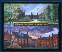 Mouse mat of Selwyn College, Cambridge