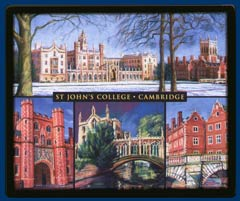Mouse mat of St John's College, Cambridge
