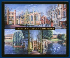 Mouse mat of Trinity College, Cambridge