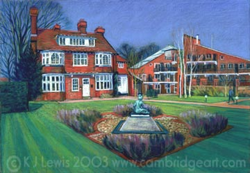 Painting Of Clare Hall University Of Cambridge Prints Cards Fridge Magnets Keyrings